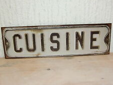 edles großes Shabby Chic Bild Vintage Metallbild CUISINE braun schwarz Küche