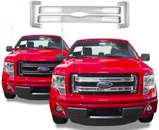 2013 2014 Ford F150 Chrome Grill Grille Overlay Insert 4 Piece Kit