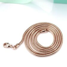 "18k Rose Gold Filled Womens/Mens Necklace Snake Link 20"" Chain Fashion Jewelry"