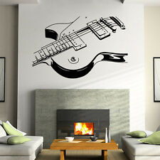 Guitar Music Abstract Mural Removable Wall Stickers Art Vinyl Decals Room Decor