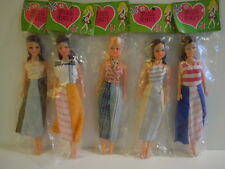 RARE MISPRINT NEW OLD STOCK Vintage 1960's Miss Mary Hong Kong SET OF 5 DOLLS !