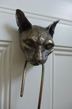 Brass Cat Head and Brass Mouse Door Knocker Unique Design Hand Made Hand Crafted