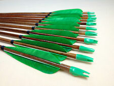 12PCS Traditional Cedar Wood Arrows Paint Shaft Hunting Archery For Recurve bow