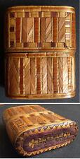 Boite 18e siècle en marqueterie de paille ancien