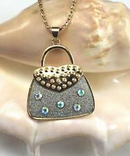 New Women Plating 14k Purse Pendant Long Chain Necklace Jewellery Gift k614