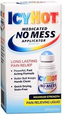 ICY HOT Medicated No Mess Applicator Pain Relieving Liquid 2.50 oz (Pack of 3)
