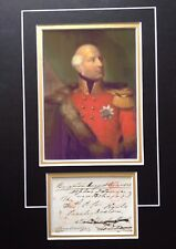 DUKE OF CAMBRIDGE - SON OF KING GEORGE III  -ARMY OFFICER - SIGNED COLOR DISPLAY