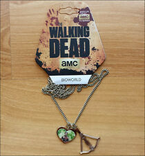 AMC The Walking Dead Daryl Crossbow Metal Neck Chain Pendant Necklace LICENSED
