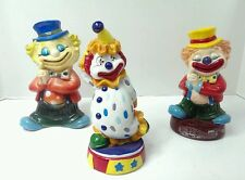 Clown Banks lot of 3, Vintage 60's Hong Kong, 1985 Delmonte & other
