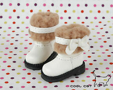 ☆╮Cool Cat╭☆【18-03】Blythe Pullip Doll Boots # White