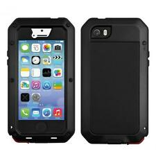 Metal Aluminum Shockproof Gorilla Glass Waterproof Case iPhone 6 5/5S/4/4S/5C
