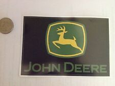 "Stk#5 John Deere Sticker, Bumper, Window Decal, Peel & Stick, 4-7/8x3-1/4"" Nice!"