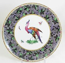 ANTIQUE SPODE COPELAND'S R5664 COUPE DINNER PLATE HAND PAINTED GOLD CHELSEA BIRD