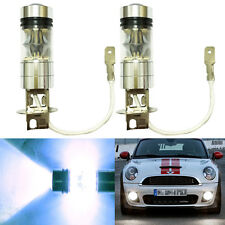 2x New H3 CREE 100W LED Fog Driving Light Bulbs 6000K HID White Projector DRL