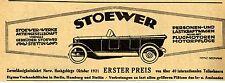 STOEWER-WERKE STETTIN Zuverlässigkeitsfahrt Norw. Historische Reklame von 1922