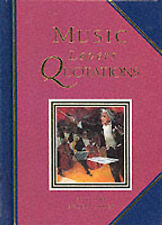 "Music Lovers Quotations (Quotation Book), , ""AS NEW"" Book"