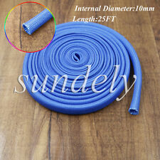 High Quality Blue Heat Protector Woven Spark Plug Wire Sleeve 25FT