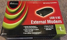 ACCESS COMMUNICATIONS EXTERNAL USB 56K DATA/FAX MODEM V.90/V.92 IN ORIGINAL BOX