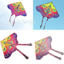 Outdoor Butterfly Kite Fun Sport Child's Toy Long Tail Colorful Printed Gift Kid
