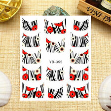 Nail Art Manicure Water Transfer Decal Stickers French Pattern YB355