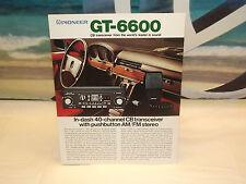 Vintage Pioneer GT-6600 CB Car Stereo  Original Catalog / Magazine / Brochure