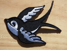 ECUSSON PATCH THERMOCOLLANT aufnaher toppa HIRONDELLE gauche swallow rockabilly
