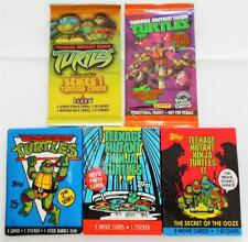 Teenage Mutant Ninja Turtles Collection TMNT - Cards / Stickers - 5 Sealed Packs