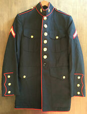 ~GENUINE SZ 38 USMC MARINE CORP DRESS BLUES JACKET COAT W/ EGA COLLAR INSIGNIA