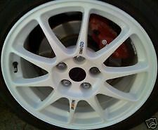 Mitsubishi Evo Alloy Wheels NEW Decals RALLIART/ENKEI