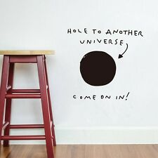 "Funny Words ""Hole to Another Universe"" Vinyl Wall Sticker Home Decor Wall Decals"