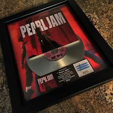 Pearl Jam Ten Platinum Record Album Disc Music Award Grammy RIAA MTV
