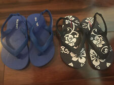 NEW 2 pair BOYS SANDALS LOT sling back RUBBER waterproof shoes OLD NAVY size 9