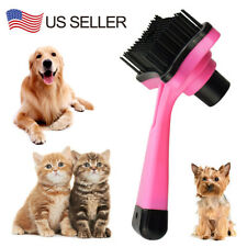 Pet Dog Cat Hair Fur Grooming Self Cleaning Slicker Brush Comb Tool Pink Color