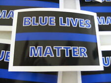 THIN BLUE LINE Blue Lives Matter Sticker Decal 4 POLICE SUPPORT Window or Bumper
