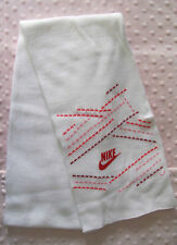 Nike Mixed Media Knitted Scarf - One Size Unisex - White/Red/Pink - New