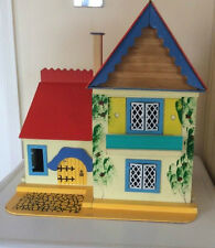 Vintage Gee Bee's Country Cottage muñeca casa Circa 1970