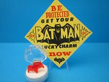 "1966 VINTAGE BATMAN  ""GUMBALL MACHINE LUCKY CHARM BAT RING with Case & Sign"""