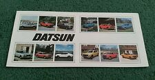 Nov 1976 / 1977 DATSUN UK RANGE BROCHURE CHERRY SUNNY VIOLET BLUEBIRD 260C 260Z