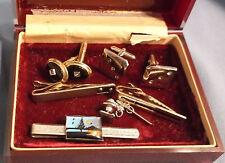 Vintage Men's Jewelry Lot  Tie Clips Cuff Links  Swank Anson Sheilds Hickok