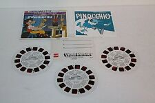 VIEW-MASTER Pinocchio, #B311, VINTAGE, Classic Tales, 3 Reel Packet 1959