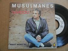 """DISQUE 45T  DE  MICHEL  SARDOU   """" MUSULMANES  """""""