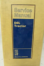 Caterpillar Cat D8L Tractor Service Repair Manual 53Y 7JC 7YB 4FB 1999