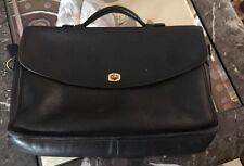 COACH BLACK LEATHER BRIEFCASE ATTACHE LAPTOP CASE BAG 5265 ( No Straps)