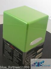 ULTRA PRO LIGHT GREEN SATIN TOWER DECK BOX COMPARTMENT FOR DICE MTG POKEMON