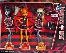 Monster High FEAR SQUAD 3 Doll Set CHEERLEADERS FEARLEADING Toralei Werecat Twin