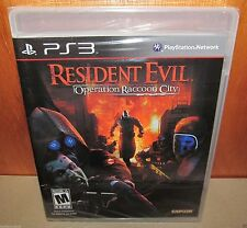 BRAND NEW SEALED Resident Evil: Operation Raccoon City PS3 PlayStation 3 Capcom