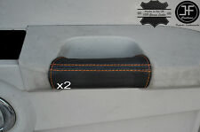 ORANGE STITCH 2X FRONT DOOR HANDLE LEATHER COVERS FITS JEEP COMMANDER 2005-2010