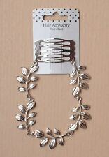 Silver Leaf HAIR CHAIN HAIRBAND Boho Festivals Weddings Bridal Bridesmaid 5623