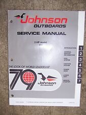 1979 Johnson Outboard Motor 2 HP Model 2R79 Service Manual MORE IN OUR STORE  V