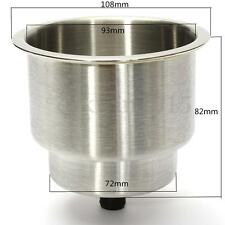 Silver Stainless Steel Car Marine For Boat RV Camper Drink Cup Holder 82mm